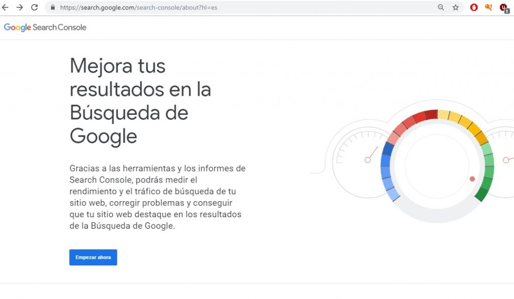 Conectar una web con la Search Console