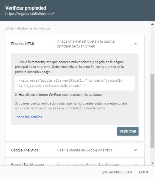 añadir web search console